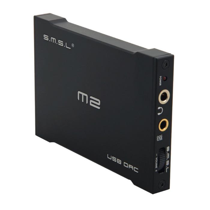 Усилители и ресиверы SMSL - SMSLУсилители для наушников<br>Современные материнские платы персональных компьютеров и ноутбуков оснащаются встроенными аудиочипами, отвечающими за воспроизведение звука, однако, в подавляющем большинстве случаев они не могут похвастать даже удовлетворительным качеством. Специально для решения этой проблемы и создаются внешние USB цифро-аналоговые преобразователи (ЦАПы).SMSL M2 - это отличный бюджетный ЦАП и усилитель для наушников, который позволит Вам по-настоящему насладиться своими любимыми музыкальными композициями:...<br>