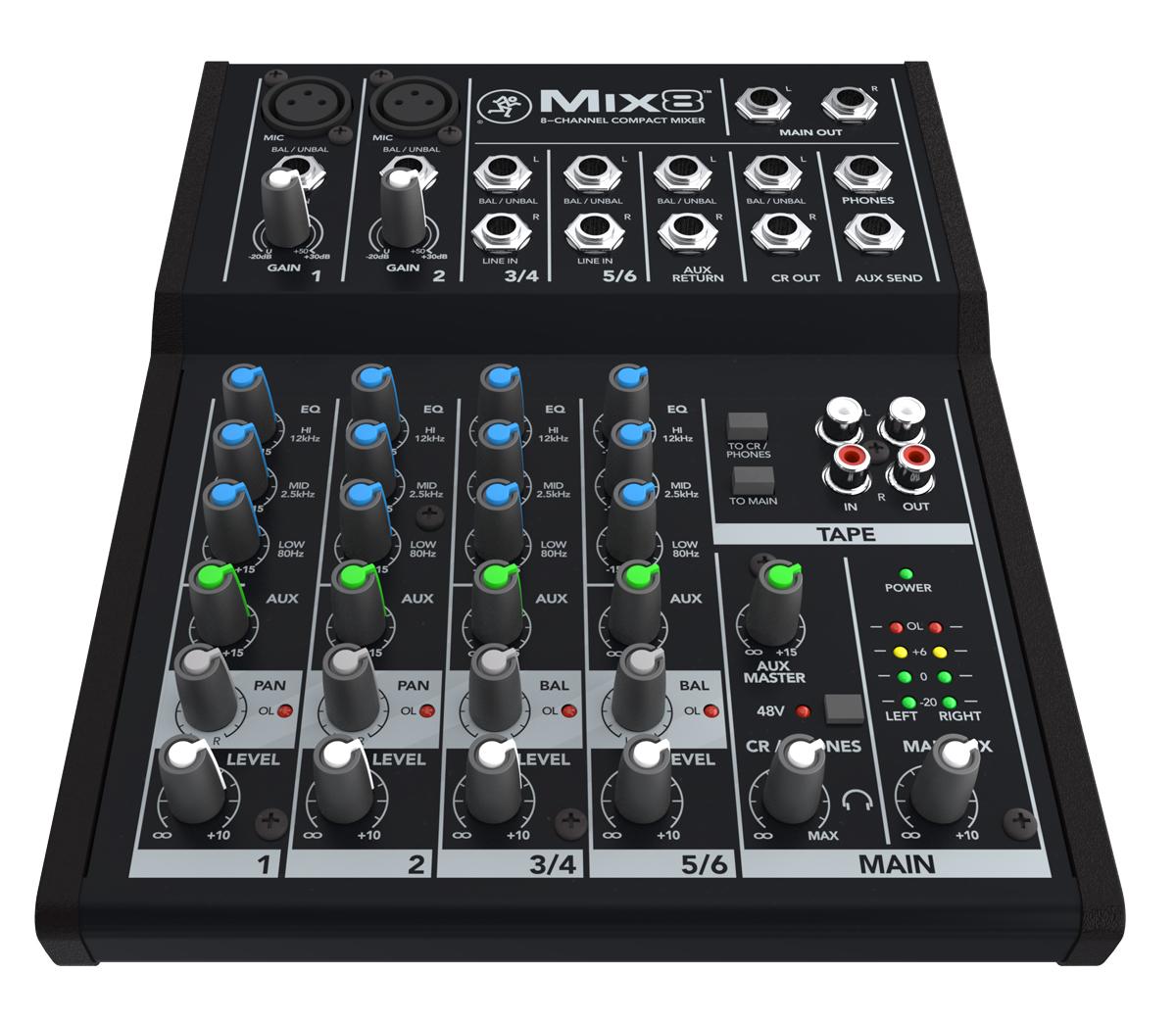 Микшерные пульты Mackie Mix8 mackie mix8