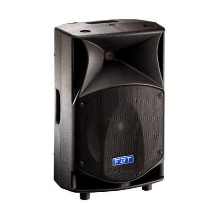ProMaxX 12A - FBTКонцертные акустические системы<br>Активная двухполосная би-амп акустика. Максимальный уровень звукового давления 133 дБ. Угол раскрытия составляет 90° по горизонтальной оси и 60° по вертикальной. Имеет широкий диапазон воспроизводимых частот (48 Гц – 20 kГц), что обеспечивает четкую звукопередачу и объемную аудио картинку. Оснащена импульсным блоком питания, ВЧ динамиком 1'' с рупором точной направленности, НЧ динамиком 12'', активным кроссовером с частотой среза 1,6 кГц, DSP-процессором с 8 пресетами эквалайзера и двумя цифровыми...<br>