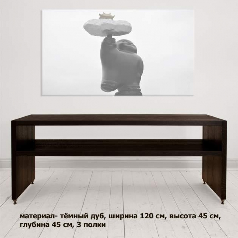 Lowboard 07 1200mm midnight black oak (3 shelves) PULT.ru 168000.000