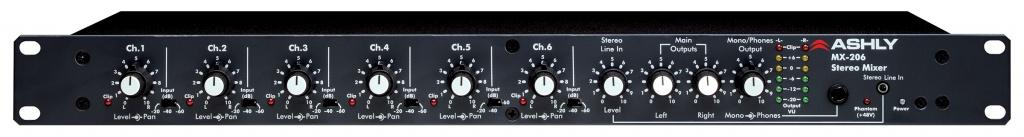 Микшерные пульты Ashly MX-206 пульты программируемые urc mx 850