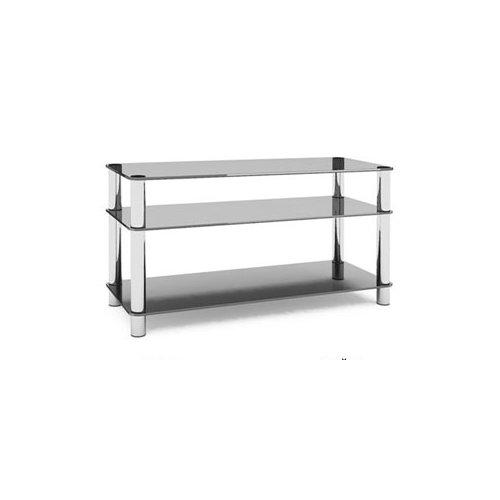 Подставки под ��елевизоры и Hi-Fi MD Flatform TV 15 хром/дымчатое стекло стойка metaldesign md 552 planima черный дымчатое стекло