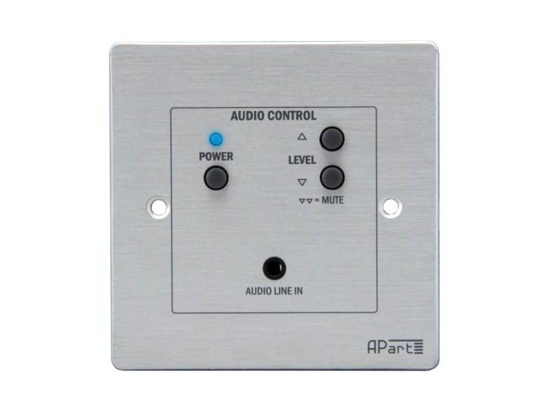 ACPR Проводная панель дистанционного управления для активных громкоговорителей APart SDQ5PIR - APartПанели управления мультирум<br>Панель дистанционного управления активных громкоговорителей SDQ5PIR.Панель позволяет управлять включением/выключением громкоговорителей и регулировать уровень громкости.В отличие от панели ACP, ACPR оснащен двумя аудио-входами: линейным (разъем euroblock) с тыльной стороны пульта  и стереофоническим (разъем mini-jack) на передней панели, для подключения ноутбуков, mp3-плееров и других звуковых устройств.При подключении к стереовходу ACPR внешнего источника сигнала, например, ноутбука, mp3-плеера...<br>
