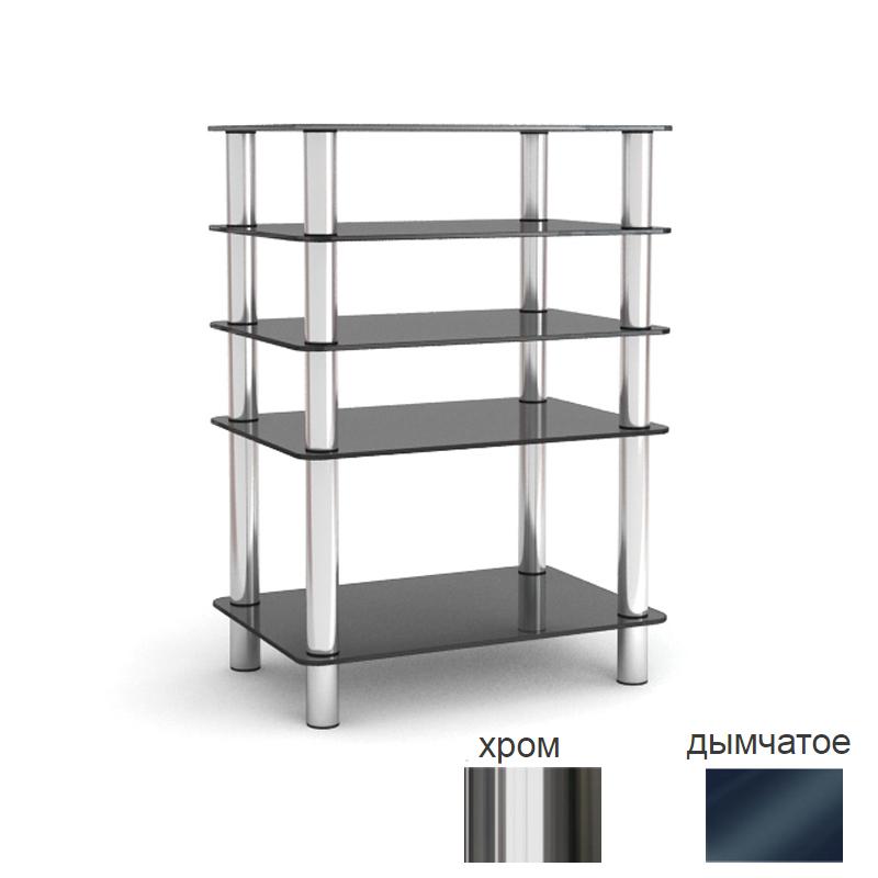 Подставки под телевизоры и Hi-Fi MD 108-5 хром/дымчатое стекло стойка metaldesign md 552 planima черный дымчатое стекло
