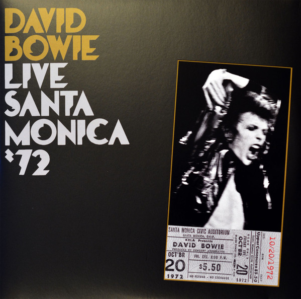 Виниловые пластинки David Bowie LIVE SANTA MONICA '72 (180 Gram) 4r electric bass guitar tuners machine heads bass guitar tuning pegs tuning keys buttons chrome guitar parts