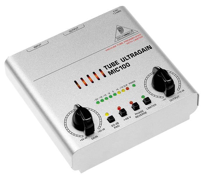 Микрофонные предусилители Behringer MIC100