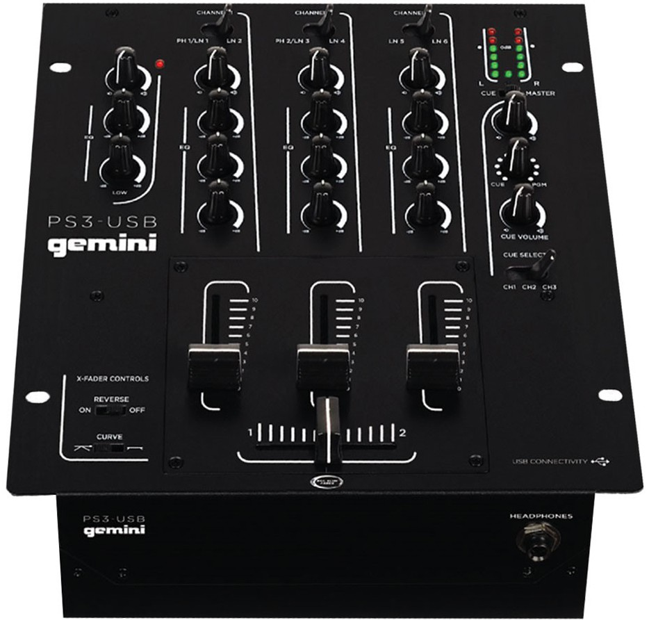 DJ-микшеры Gemini PS3-USB DJ