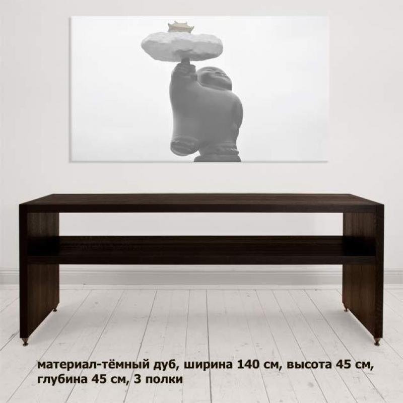 Lowboard 07 1400mm midnight black oak (3 shelves) PULT.ru 192000.000