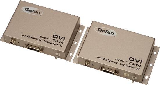 ��������� ����������� � ��������� Gefen EXT-DVI-1CAT6-GI