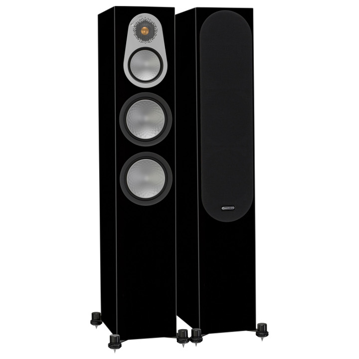 Напольная акустика Monitor Audio Silver 300 high gloss black цена 2016