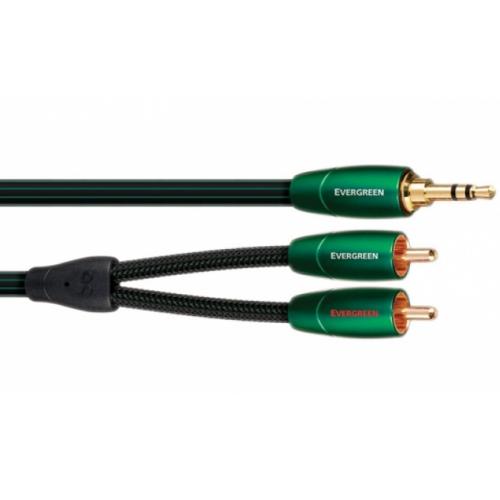 Кабели межблочные аудио Audioquest Evergreen, 1.0m (3.5mm-RCA) audioquest chicago rca 0 75m