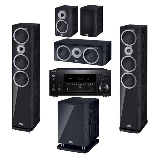 Комплекты домашних кинотеатров PULT.ru №72 (Onkyo + Heco) акустика центрального канала heco music style center 2 black black