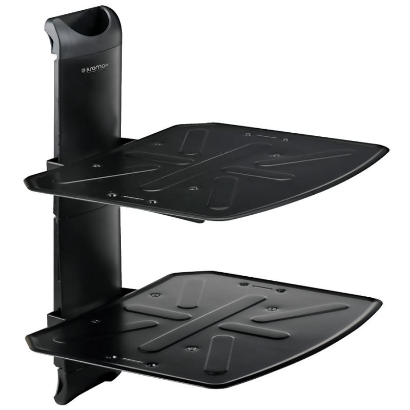 Настенные полки для компонентов Kromax Steel-Duo black аксессуары для20игровых приставок