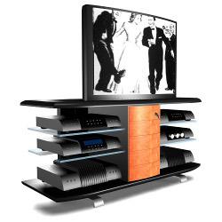 Подставки под телевизоры и Hi-Fi Soundations Chicane 1 black/cherry