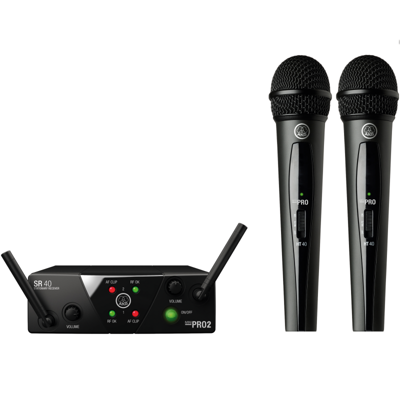 Радиосистемы AKG WMS40 Mini2 Vocal Set US25AC (537.5/539.3)