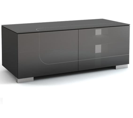 Подставки под телевизоры и Hi-Fi MD 506.1213 Planima черный/черное стекло стойка metaldesign md 552 planima черный дымчатое стекло