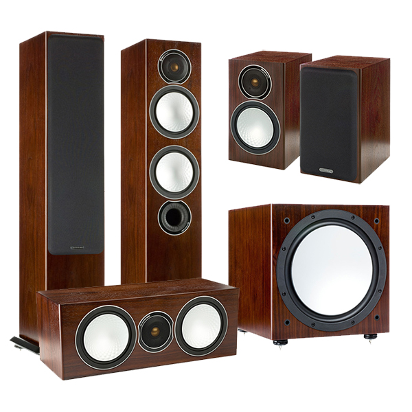 Комплекты акустики Monitor Audio Silver set 5.1 walnut (6+1+Centre+W12) измельчитель delta dl 7415